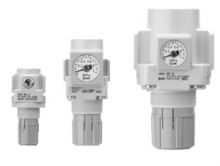 """SMC AR25-02G-A SMC减压阀 接管Rc1/4"""" 无托架有压力表 设定压力0.5-7bar"""
