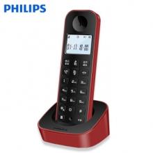 飞利浦 DCTG160 无绳电话机 单机 红色