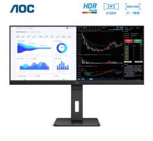AOC  Q34P2电脑显示器 34英寸21:9带鱼屏 IPS窄边框 广色域 HDR Mode技术 升降旋转
