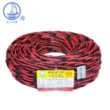 起帆(QIFAN)电线电缆 RVS2*0.5平方双绞线 家装国标电源花线 铜芯软线 红黑 100米