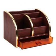 晨光(M&G) ABT98463 木纹大号多功能木质笔筒 单个装