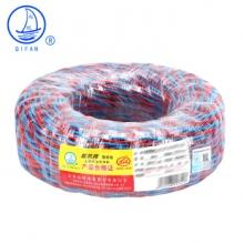 起帆(QIFAN)电线电缆 RVS2*1.5平方双绞线 家装国标电源花线 铜芯软线 红蓝 100米