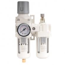 SMC型气源处理器 AC3010-03D空压机过滤调压阀减压阀气缸空气过滤器二联件自动排水油水分离器 AC3010-03 手动排水3分螺纹接口