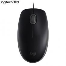 罗技(Logitech)M110 有线鼠标 静音鼠标 黑色