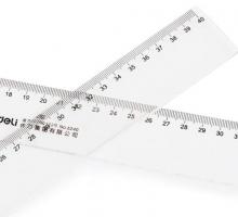 得力 deli 直尺 6240 400mm (透明) 20把/盒