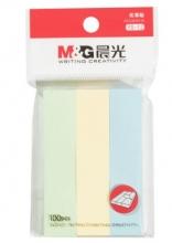 晨光 M&G 优事贴三分条自粘便条纸 YS-12 76*17mm*3 (黄色、绿色、蓝色) 100页/条 3条/包