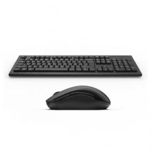 双飞燕 A4TECH 键盘鼠标套装 3000N 键鼠套装 无线键鼠套装 办公键鼠套装 便携 防泼溅 省电 商务 黑色