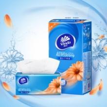 维达 vinda 超韧三层面巾纸 V2239 130抽/包  6包/提 8提/箱