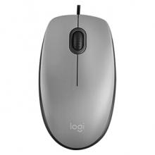 罗技(Logitech)M111 有线静音鼠标 灰色