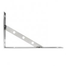 海斯迪克 HKQS-45 加厚不锈钢三角支架 托架 层板托墙上置物架 隔板固定壁挂(不含螺丝) 厚3mm长250mm(2个)
