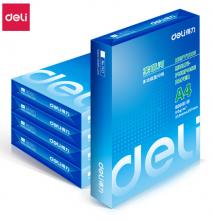 得力(deli)莱茵河5包装80gA4复印纸 500张/包 整箱2500张