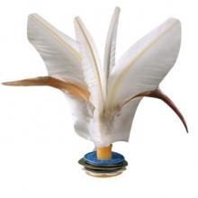 杜威克 毽子 成人毽球5个装鹅毛比赛专用儿童健身牛筋底花毽 白色 白色