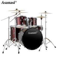 阿萨娜丝(Asanasi)架子鼓 成年人儿童爵士鼓初学入门考级专业演奏打击乐器鼓 Q900酒红色五鼓四镲