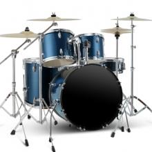 相思鸟(LOVEBIRD) 架子鼓 成年人儿童爵士鼓考级专业演奏打击乐器鼓5鼓4镲 蓝色 XS2024
