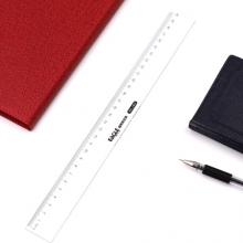 益而高(EaGLE)30cm透明直尺塑料测量刻度尺子 耐磨损办公学习绘图制图直尺 NO.1403