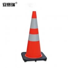 安赛瑞  14485 PVC反光路锥(1个装)红白反光雪糕筒交通安全反光路锥 71×36×36cm