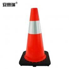 安赛瑞  14484   PVC反光路锥(1个装)红白反光雪糕筒交通安全反光路锥45×27×27cm