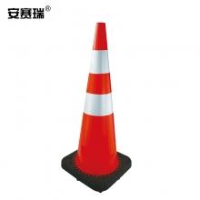 安赛瑞 14486  PVC反光路锥(1个装)红白反光雪糕筒交通安全反光路锥91×36×36cm