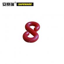 安赛瑞 塑料链条S扣(80个装)红色小号 S形塑料链条扣 S型塑料挂钩 路锥链条连接挂扣