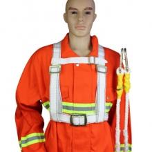 谋福 CNMF 8787-3 高空双背安全带 高空作业保险带安全绳 攀岩带防坠落区域限制保险带(白色工程款)