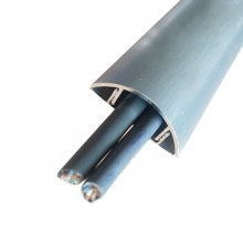 谋福 CNMF 8850 铝合金线槽 金属防踩线槽 半弧形地面穿线用 (5号线槽) 5个装 绿色(袋)