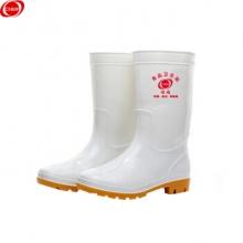 谋福CNMF186白色食品卫生鞋靴 耐油耐酸碱劳保防护雨鞋水鞋雨靴水靴 35-45码(单位:双)
