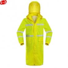 谋福 8019 荧光黄长款反光连体雨衣 L-165