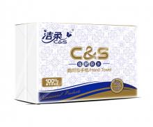 洁柔(C&S) 擦手抽纸 商用单层200抽*20包 无香(整箱销售 商务用纸 擦手纸 225mm*222mm)