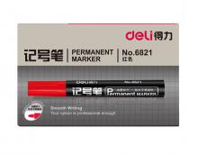 得力 6821 记号笔 1.5mm 10支/盒 (单位:支) 红