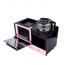 乐扣LOCK&LOCK EJB317PIK  早餐机烤面包机多功能家用电烤箱三合一 粉色