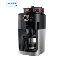 飞利浦(PHILIPS)咖啡机 家用全自动双豆槽自动磨豆预约功能咖啡壶 HD7762/00